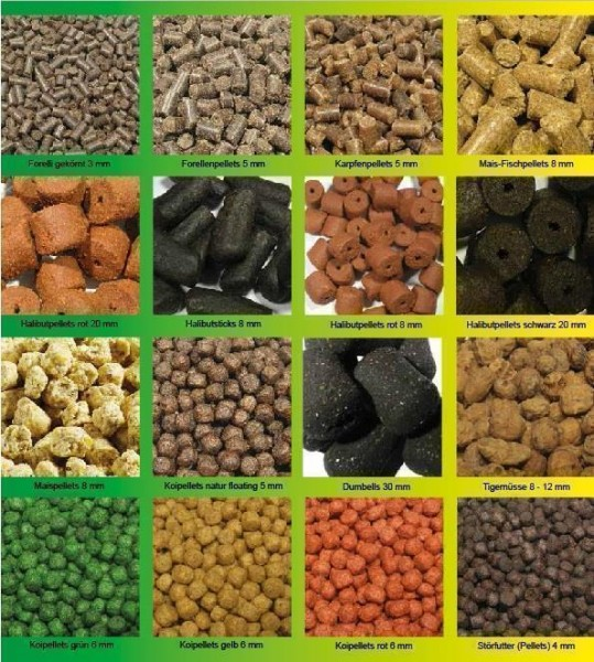 20 kg Premium-Halibutpellets schwarz Sackware